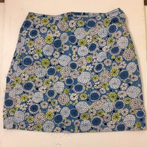 Loft Flowery skirt with pockets, 100% cotton.